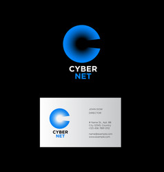 c monogram cybernet logo vector image