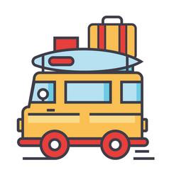 caravan travel camping trailer van concept vector image