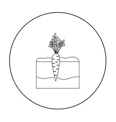 Carrot icon outline single plant icon from the vector