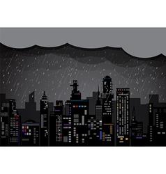 City Rain 2 vector image