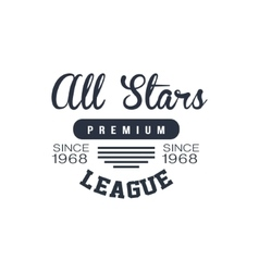 Classic Sports League Label vector image