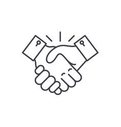 collaboration line icon concept collaboration vector image