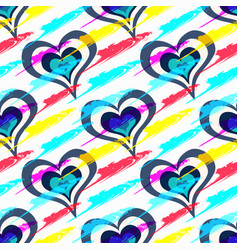 colored beautiful hearts on day holy vector image
