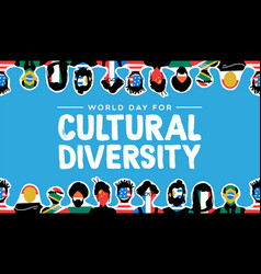Cultural diversity card country flag people vector