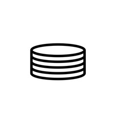 database server icon vector image