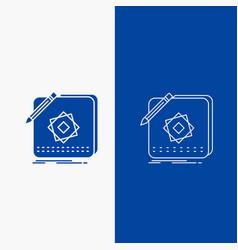 design app logo application design line and glyph vector image
