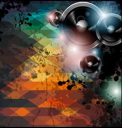 Disco club flyer template vector image