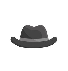 elegant hat to use in the head vector image