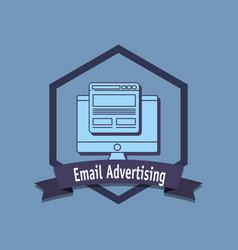 email marketing design vector image