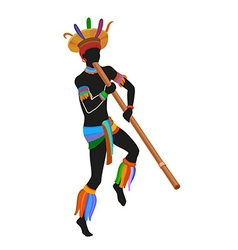 Ethnic dance brasilian man vector image