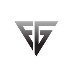 f g modern business logo designs vector image