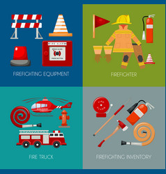 fire safety banner vector image