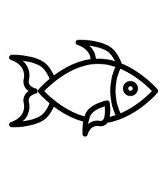 fish line icon aquatic vector image