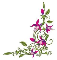 Floral element ornament vector