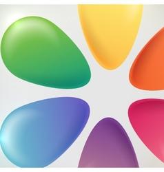 Flower Buttons Art Background vector image