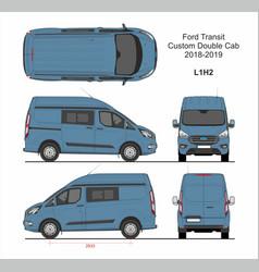 Ford transit custom delivery van l1h2 2018-2019 vector