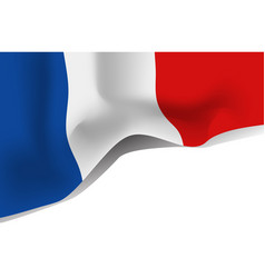 france national waving flag isolated on white vector image