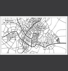 gaborone botswana city map in retro style outline vector image