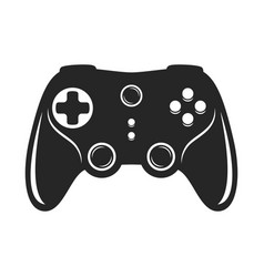 gamepad bold black silhouette icon isolated vector image