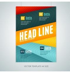 geometric lines brochure flyer design vector image vector image