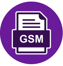 Gsm file document icon vector