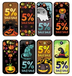 Halloween tags vector