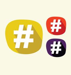 hashtag icon vector image