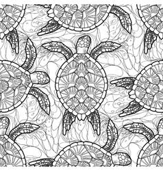 hawksbill sea turtle pattern vector image