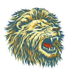 Head lion vector