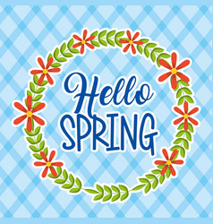 hello spring card vector image