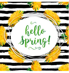 hello spring modern background spring flowers vector image