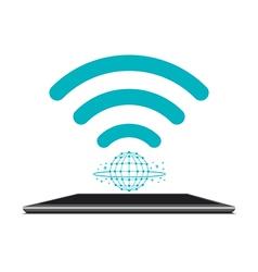 Internet tablet concept vector