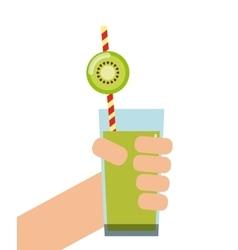 Kiwi Detox icon Smoothie and Juice design vector image