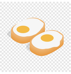 Korean dish with eggs isometric icon vector