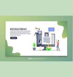 landing page template recruitment modern flat vector image