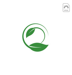 leaf nature logo concept icon element isolated vector image