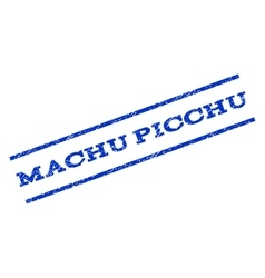 Machu Picchu Watermark Stamp vector