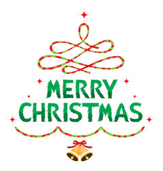 merry christmas text decoration vector image vector image