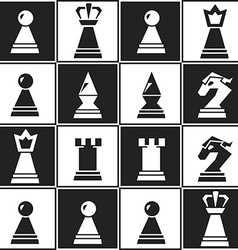Monochrome chess seamless pattern vector