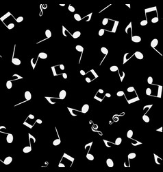 music seamless pattern background with notes vector image
