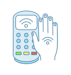 nfc payment terminal color icon vector image