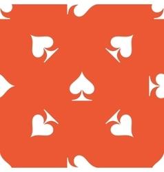 Orange spades pattern vector