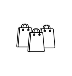 Paper bags commerce shopping line image icon vector