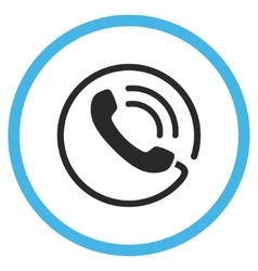 Phone Call Flat Rounded Icon vector image