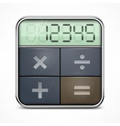 Pocket calculator on white vector image
