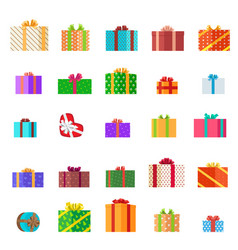 Presents set holiday collection vector