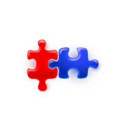 puzzle colored sign group art game icon idea vector image