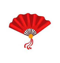 red fan chinese traditional symbol vector image