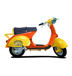 Retro scooter vector