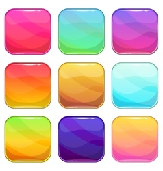Rounded square app icons template set vector